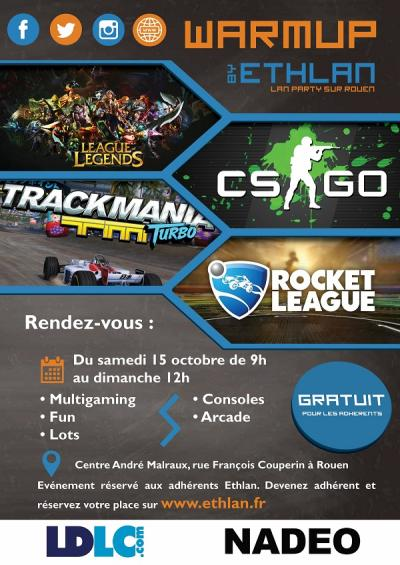 Affiche lan party Warmup #1