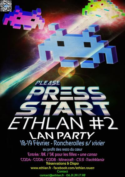 Affiche lan party Ethlan #2