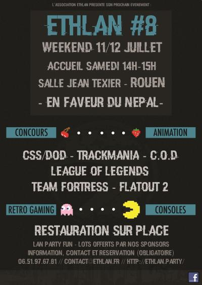 Affiche lan party Ethlan #8