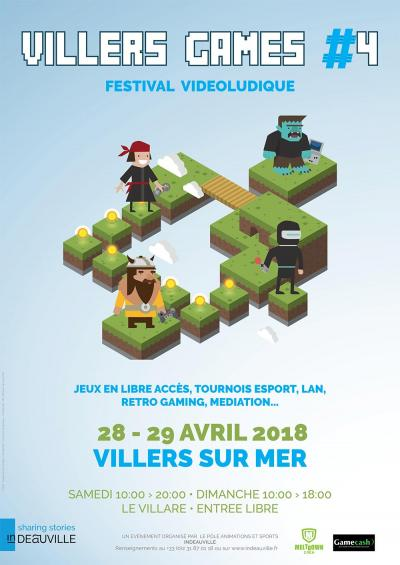 Affiche lan party Villers Games #4